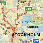 Image of highway-level street map