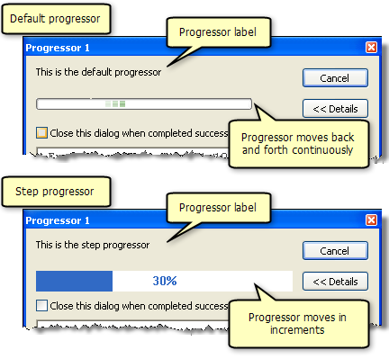 Default and step progressor