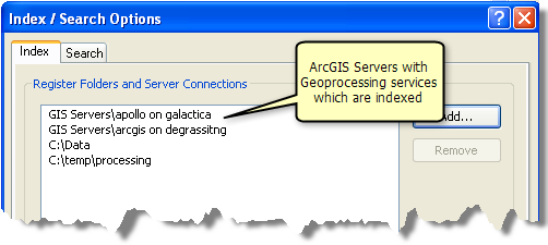 Indexing your GIS Server(s)