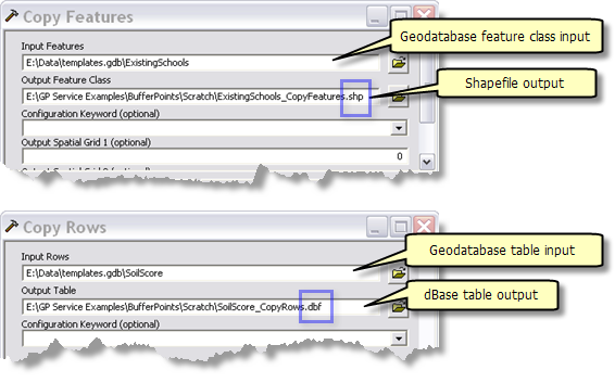 Shapefile and dBASE output