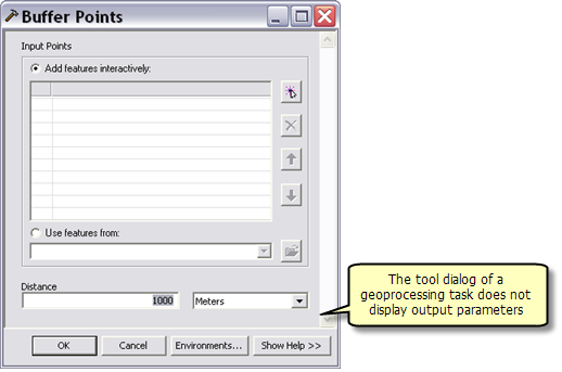 BufferPoint task dialog box