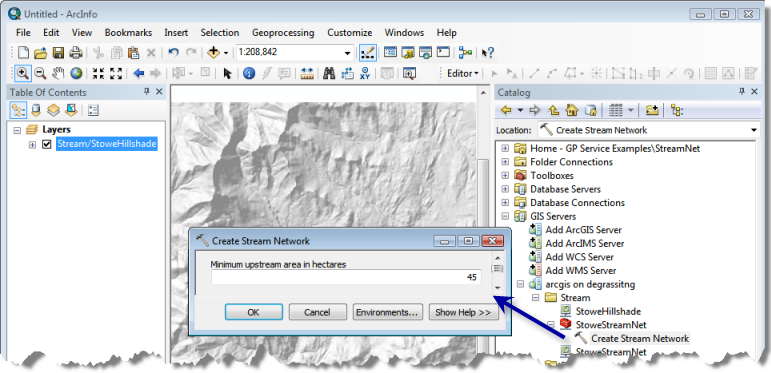 ArcMap with services