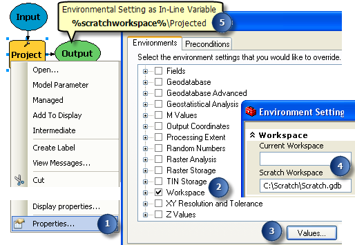 Using environmental setting as inline variable