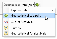 Geostatistical Analyst context menu
