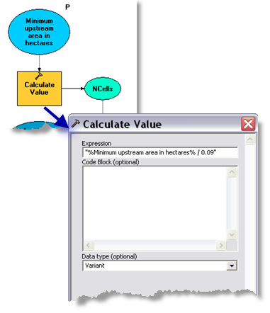 Calculate Value parameters