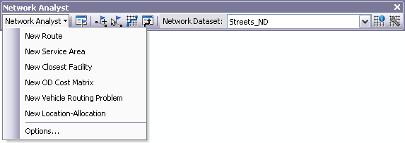 Network Analyst toolbar