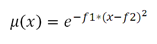 Gaussian fuzzy function equation