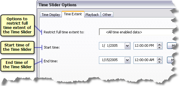 Time Slider Options
