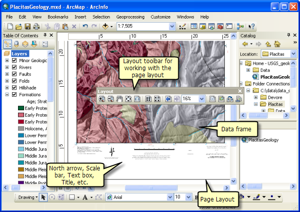 Page layout in ArcMap