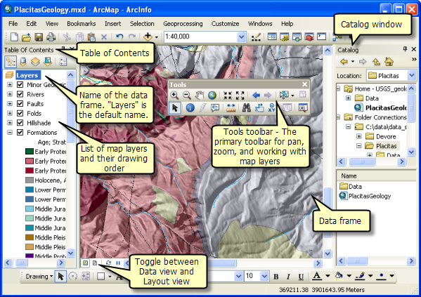 Data view in ArcMap
