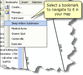 Navigating to a bookmark