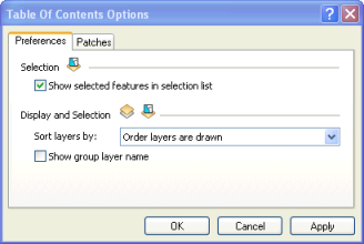 Setting options for the appearance of your table of contents