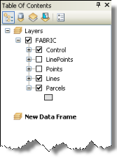 A new data frame named New Data Frame added in the table of contents