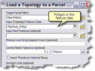 Load A Topology To A Parcel Fabric