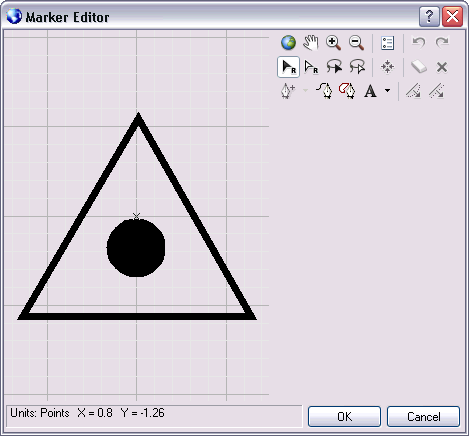 The Marker Editor dialog box is used to modify representation markers