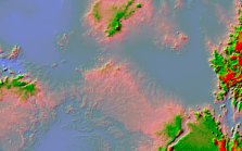 Shaded Relief on mosaic dataset