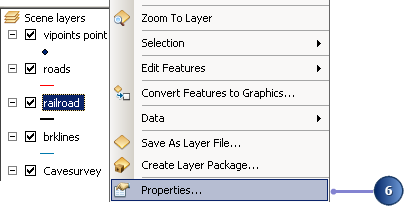 Open the layer properties for railroad
