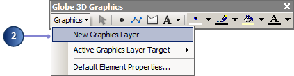 Create a new graphics layer as the target for all new graphics you digitize.