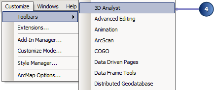 Add the 3D Analyst toolbar