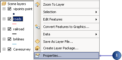 Open the layer properties for roads