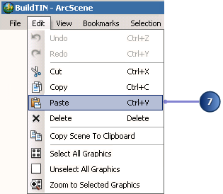 Paste the elements into ArcScene from ArcMap