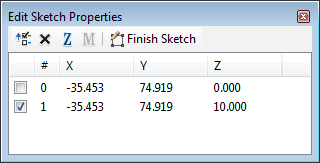 Edit sketch properties dialog box