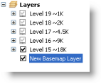 The new basemap layer in the table of contents
