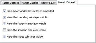 Mosaic dataset options