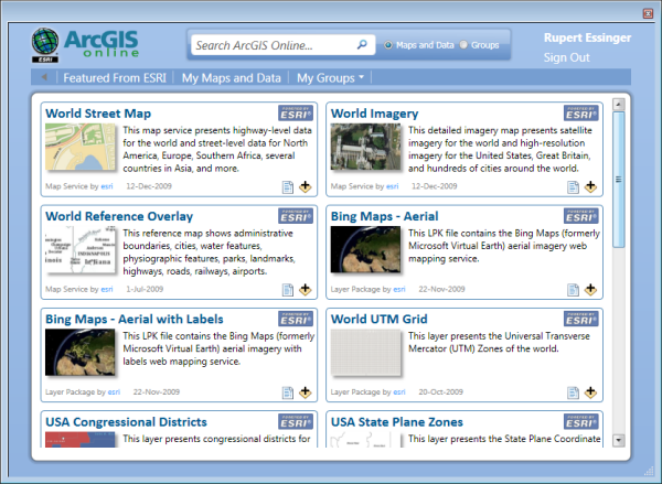 ArcGIS Online dialog box