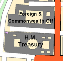 Buildings labeled with the Avoid holes in polygons option disabled