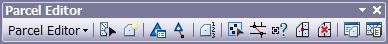 Parcel Editor toolbar