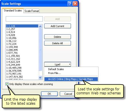 Scale Settings dialog box