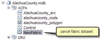 Parcel fabric dataset
