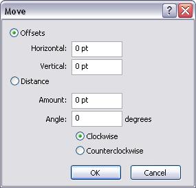 Move tool dialog box