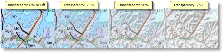 Layer transparency in ArcMap
