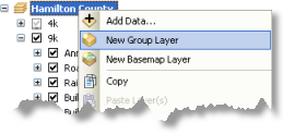 Creating a new group layer