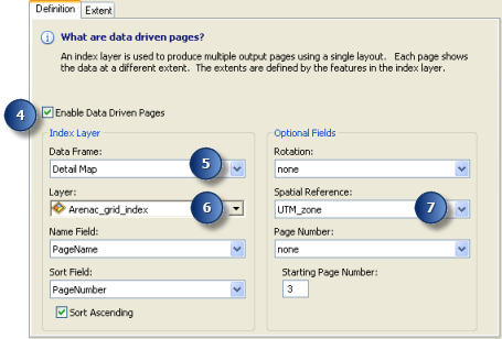 Data Driven Pages Definition UI steps for enabling Data Driven Pages example