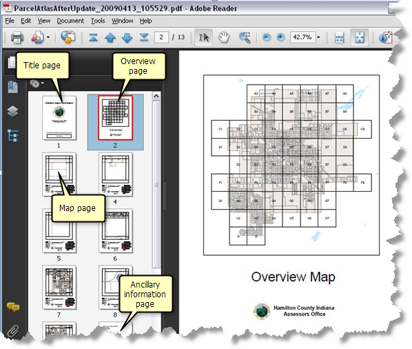 Example multipage mapbook