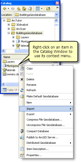 Accessing an item's context menu