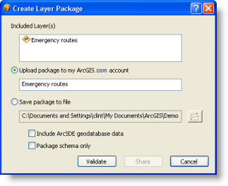 Loading a layer package into ArcGIS online