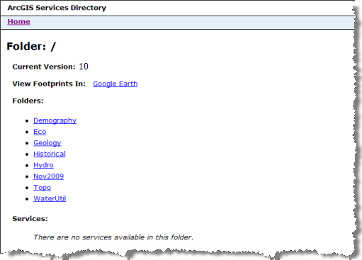Services directory contents
