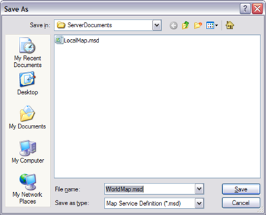 Saving your ArcMap document as an MSD file
