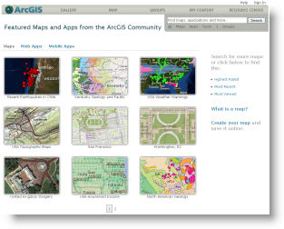 Map Gallery at ArcGIS.com