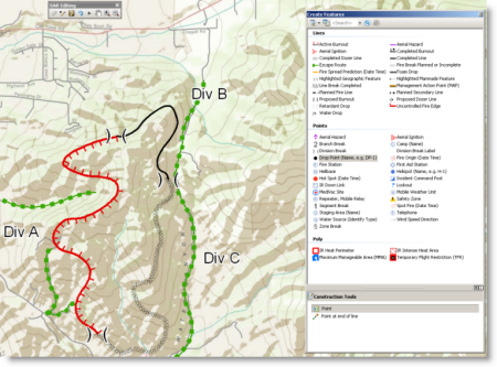 Editing and compilation on a Wildfire Operations map