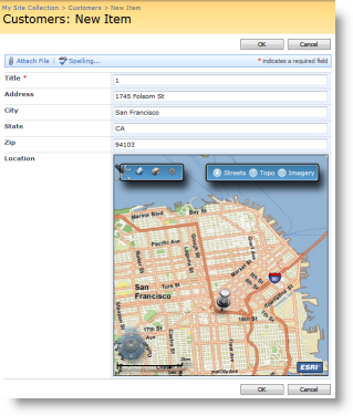 ArcGIS Web parts for SharePoint