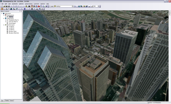 Map layers—such as 3D buildings, imagery, and surface elevation