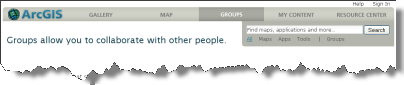 Groups at ArcGIS.com