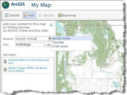 Searching for Web map content at ArcGIS.com