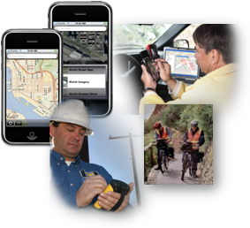 Using mobile GIS to work remotely with map services and other GIS services