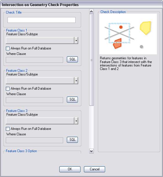 Intersection on Geometry Check Properties dialog box